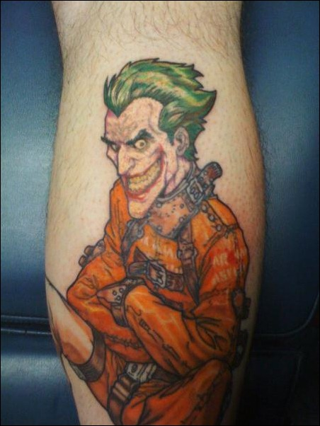 Joker Straightjacket tattoo