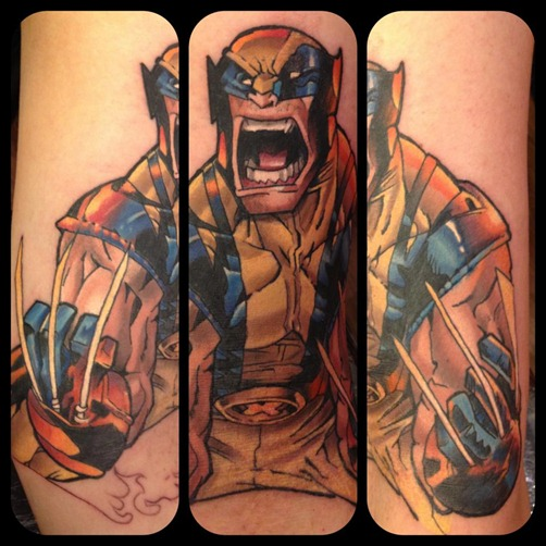 Wolverine tattoo by Mat Lapping