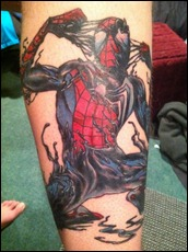 Ultimate Spider-Man Finished Tattoo 2