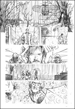 Harbinger #11 Preview 4 - Hairsine pencils