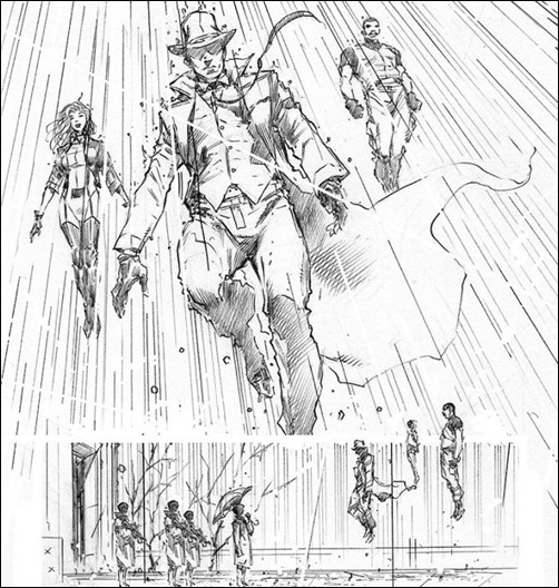 Harbinger #11 - Hairsine pencils