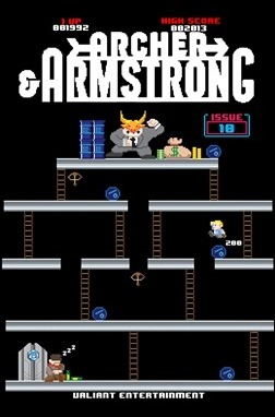 Archer & Armstrong #10 Cover - 8-bit Variant