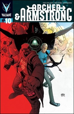 Archer & Armstrong #10 Cover - Robinson Variant