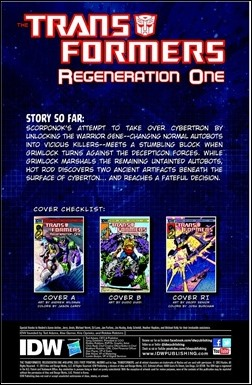Transformers Regeneration One #90 Preview 1