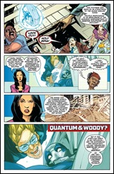 Quantum and Woody #1 lettered interiors