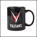 Valiant Logo Black Mug