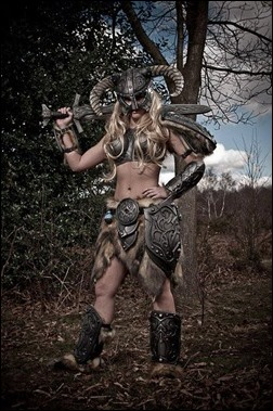 Tabitha Lyons as a Skyrim Dragonborn