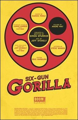Six Gun Gorilla #1 Preview 1