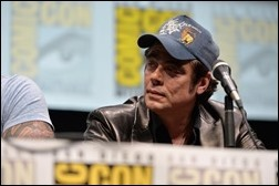 """SAN DIEGO, CA - JULY 20:  Actor Benicio del Toro speaks at Marvel's """"Guardians Of The Galaxy"""" panel during Comic-Con International 2013 at San Diego Convention Center on July 20, 2013 in San Diego, California.  (Photo by Alberto E. Rodriguez/WireImage)"""