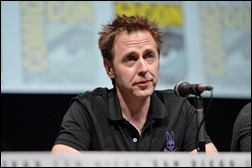 """SAN DIEGO, CA - JULY 20: Actor James Gunn speaks at Marvel's """"Guardians Of The Galaxy"""" panel during Comic-Con International 2013 at San Diego Convention Center on July 20, 2013 in San Diego, California.  (Photo by Alberto E. Rodriguez/WireImage)"""