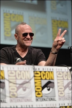 """SAN DIEGO, CA - JULY 20:  Actor Michael Rooker speaks at Marvel's """"Guardians Of The Galaxy"""" panel during Comic-Con International 2013 at San Diego Convention Center on July 20, 2013 in San Diego, California.  (Photo by Alberto E. Rodriguez/WireImage)"""