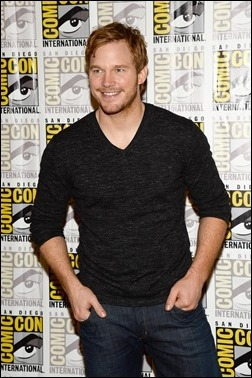 """SAN DIEGO, CA - JULY 20:  Actor Chris Pratt attends Marvel Studios' """"Thor: The Dark World"""", """"Captain America: The Winter Soldier"""" and """"Guardians of The Galaxy"""" during Comic-Con International 2013 at Hilton San Diego Bayfront Hotel on July 20, 2013 in San Diego, California.  (Photo by Ethan Miller/Getty Images)"""