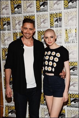 """SAN DIEGO, CA - JULY 20:  Actors Lee Pace and Karen Gillan attends Marvel Studios' """"Thor: The Dark World"""", """"Captain America: The Winter Soldier"""" and """"Guardians of The Galaxy"""" during Comic-Con International 2013 at Hilton San Diego Bayfront Hotel on July 20, 2013 in San Diego, California.  (Photo by Ethan Miller/Getty Images)"""