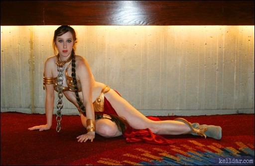 Kelldar as Slave Leia