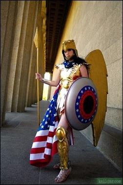 Kelldar as Wonder Woman (Kingdom Come suit)