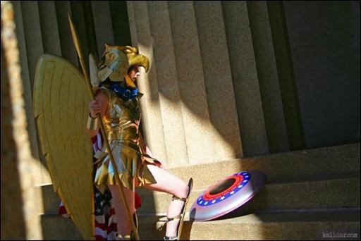 Kelldar as Wonder Woman (Kingdom Come armor)