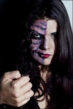 "Lola Marie as Harvey ""Two-Face"" Dent"