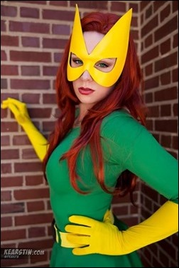 Kearstin Nicholson as Marvel Girl (Jean Grey)