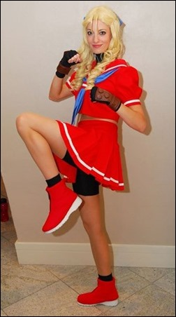 Katie George as Karin Kanzaki from Street Fighter Alpha 3 (Photo by Paul Tien)