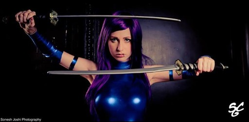 Stacey Rebecca as Psylocke (Photo by Sonesh Joshi Photography)