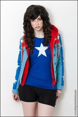 Stacey Rebecca as Miss America (Young Avengers) (Photo by Andrew Simpson)