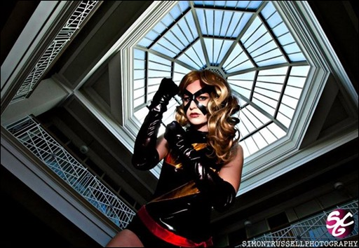Stacey Rebecca as Ms. Marvel (Photo by Simon Trussell Photography)