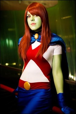 Sirene as Miss Martian (M'gann M'orzz) [Young Justice] (Photo by Carroll K.)