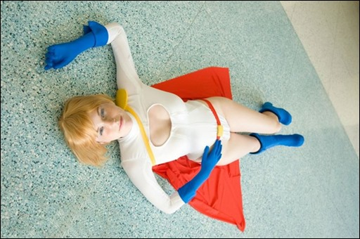 Lossien as Power Girl (Photo by Wandering Dana)
