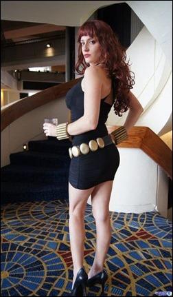 Abby Dark Star as Evening Dress Black Widow (Photo by Eurobeat Kasumi Photography)
