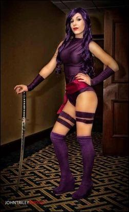 Liana Richardson as Psylocke (Photo by John T. Riley)