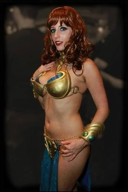 Abby Dark Star as SW:TOR Guild Dancer (Photo By Tom B)