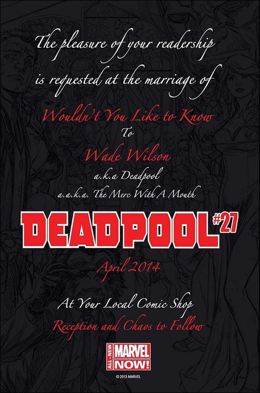Deadpool Wedding Invitation