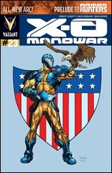 X-O Manowar #23 Cover - Raney Variant