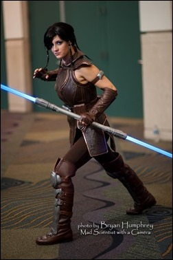 Abby Dark Star as Satele Shan from Star Wars the Old Republic (Photo by Bryan Humphrey)