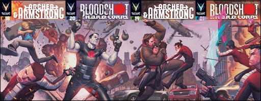 Bloodshot and H.A.R.D. Corps #20 Cover -Interlocking Pullbox Variant
