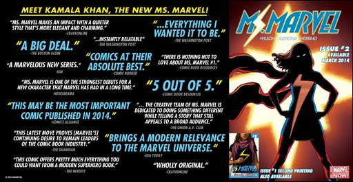 Ms. Marvel #2 Critical Acclaim