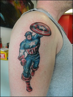 Captain America tattoo
