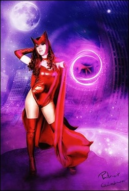 Romi Lia as Scarlet Witch (Photo edit by Patricio Gandara CGI)