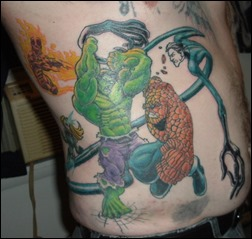 Fantastic Four vs The Hulk tattoo