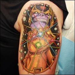 Thanos & The Infinity Gauntlet tattoo