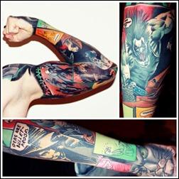 Comic Book tattoos