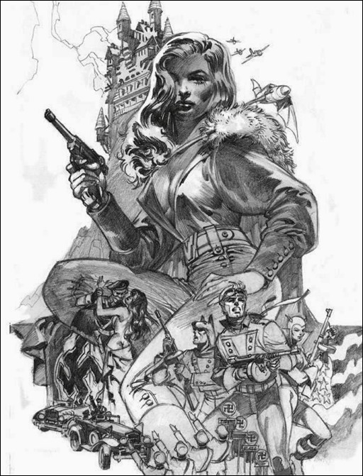 Avengers of the Killer Skies Original Pencils by Jim Steranko