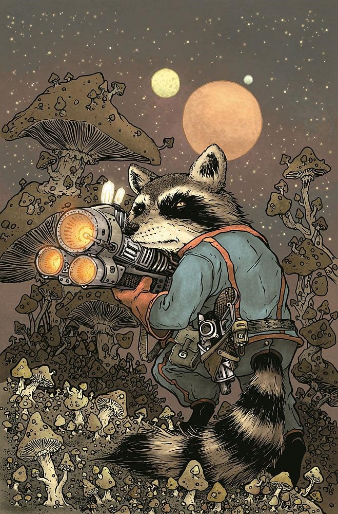 First Look at Rocket Raccoon #1 by Skottie Young