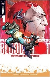 Armor Hunters: Bloodshot #1 Cover - Hairsine Variant