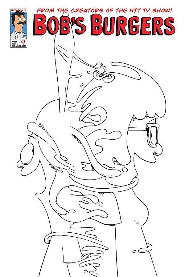 bobs burger coloring pages - photo#7