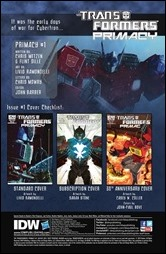Transformers: Primacy #1 Preview 1