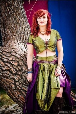 Alexandria the Red in an original Renaissance Faire costume (Photo by York in a Box)