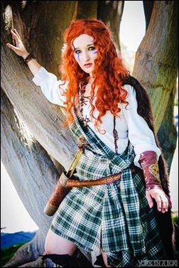 Alexandria the Red as Warrior Merida (Photo by York In A Box)