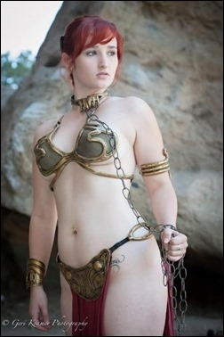Alexandria the Red as Slave Leia (Photo by Geri Kramer Photography)