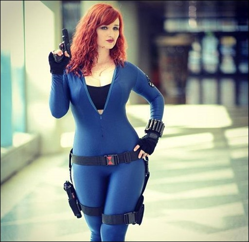 Alexandria the Red as Natasha Romanov (Photo by Erik Estrada)